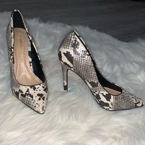 pointed snake skin heels